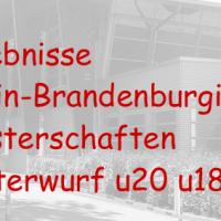 Berlin-Brandenburgische Hallenmeisterschaften am 16.01.2016 in Berlin