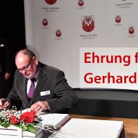 Gerhard Schirmer mit Eintragung in die Ehrenchronik der Stadt Cottbus geehrt
