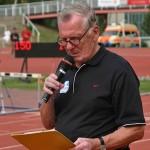Stadionsprecher bei unzähligen Leichtathletikveranstaltungen, Dieter Ignor. | Foto: Fugmann
