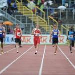 Tim Patzig (2 v.l.) erreichte mit neuer Bestleistung das B-Finale über 200m. | Foto: sportclicks.de