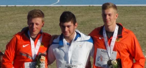 Siegerehrung Diskuswurf U18 EM 2016