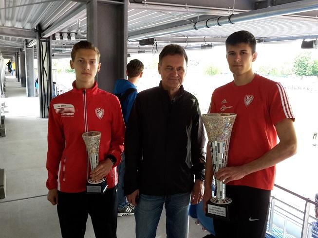 Sieger und Dritter des Harbig-Laufes 2017 Dresden