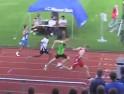 100 m Sieg in 11,04 s Dominik Wache